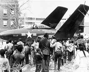 Grumman F9F-6 Cougar on Exhibit at Opening of ANM.jpg