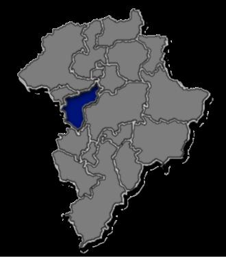 Mixco - Guatemala Department map, showing Mixco municipality area.