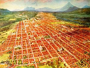 San José Castle (Guatemala City) - Guatemala City in the early 20th century. The fort had a privileged view of the whole city and the surrounding valley at the time.