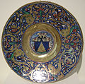 Gubbio maiolica, giorgio di pietro andreoli, piatto con stemma vegerio, 1524.JPG