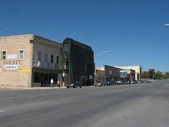Gunnison, Utah - Looking north along the west side of Main Street (US-89) in Gunnison, September 2010