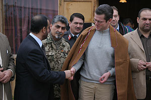 KUNDUZ, Afghanistan-German Minister of Defence...