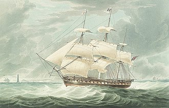 HMS Winchester (1822) - Image: H.M.S. Winchester RMG PY0825 (cropped)
