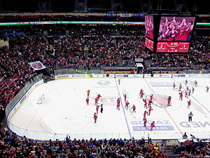 Kontinental Hockey League - KHL match Lev Praha vs. Lokomotiv Yaroslavl in O2 Arena, Prague