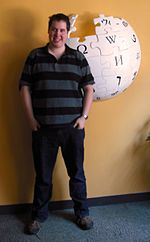 Harry Mitchell at the Wikimedia Foundation office