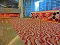 HKCEC 灣仔 香港會議展覽中心 Wan Chai lobby interior wall sculpture red May-2013.JPG