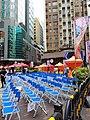 HK 上環 Sheung Wan 摩利臣街 Morrison Street 永樂街 Wing Lok Street January 2019 SSG blue seats.jpg