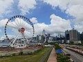 HK 中環 Central 民光街 Man Yiu Street 行人天橋 footbridge view Central Waterfront Promenade 中環海濱摩天輪 big eye n 灣仔 Wan Chai June 2020 SS2 01.jpg