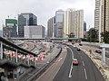 HK KT 啟德 Kai Tak 太子道東 Prince Edward Road East footbridge near 彩頤花園 Rhythm Garden December 2020 SSG 03.jpg