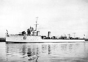 HMAS Swan (D61) - Image: HMAS Swan (AWM H17520)