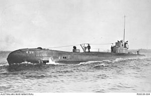 Japanese destroyer Sagiri - HNLMS K-XVI, the Dutch submarine which sank Sagiri