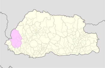 Location of Uesu Gewog