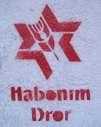 Habonim Dror - A Habonim Dror stencil on a wall in Rosario, Argentina
