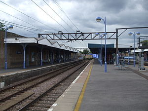 Hackney Downs railway station - Hackney Downs railway station in 2008