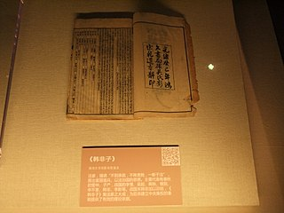"<i>Han Feizi</i> ancient Chinese text attributed to foundational political philosopher, ""Master"" Han Fei"