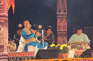 Hariprasad Chaurasia - Pandit ji Performing at Rajarani Music Fest 2015, Bhubaneswar, Odisha