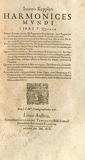 <i>Harmonices Mundi</i> book by Johannes Kepler