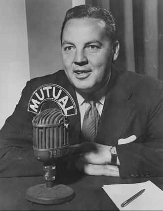 Harry Wismer - Hosting the Sports-Ten show on the Mutual Broadcasting System