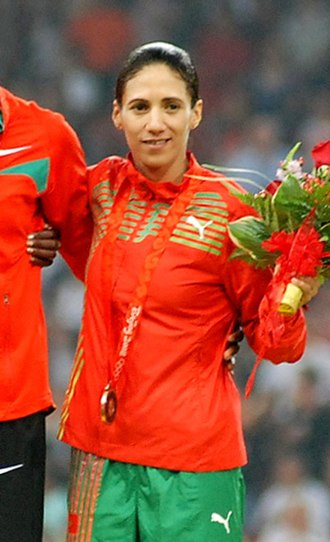 Hasna Benhassi - Benhassi at the 2008 Olympics
