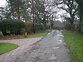 Hatch Lane and the entrances to the Vicarage and Overmoor. - geograph.org.uk - 655574.jpg