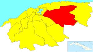 Guanabacoa - Image: Havana Map Guanabacoa