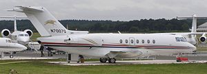 Hawker 4000 auf der Farnborough Airshow 2008