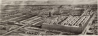 Hawthorne effect - Aerial view of the Hawthorne Works, ca. 1925