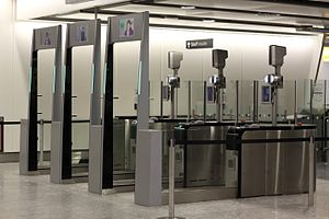 EPassport gates - ePassport gates in Heathrow Airport (Terminal 4)