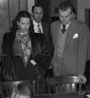 John Loder (actor) - Hedy Lamarr and John Loder in 1946