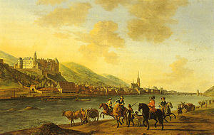 Electoral Palatinate - Image: Heidelberger Schloss von Gerrit Berckheyde 1670