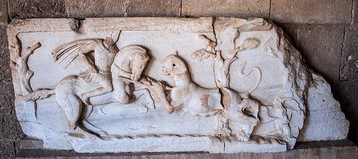 Hellenistic marble relief with hunting scene.jpg