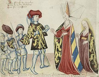Adelaide of Burgundy, Duchess of Brabant - Image: Henry III, wife and children