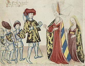 Adelaide of Burgundy, Duchess of Brabant - Image: Henry III, wife and children