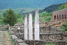 Photographie des ruines de Heraclea Lyncestis
