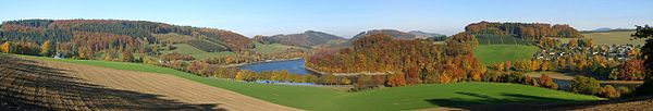 Automn in the Sauerland in North Rhine-Westphalia, Germany