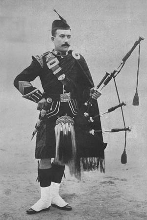 Great Highland bagpipe - A pipe major of the Argyll and Sutherland Highlanders (date unknown)