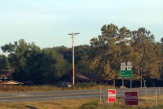 Arkansas Highway 107 - Highway 107 near Vilonia