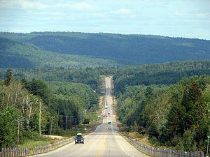 Ontario Highway 17 - Highway 17 looking east towards Stonecliffe