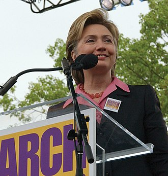 March for Women's Lives - Hillary Clinton at the march