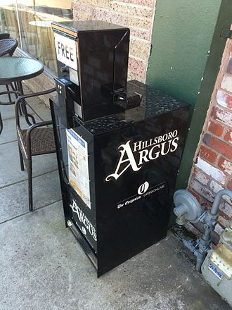 The Hillsboro Argus - Argus distribution box in Forest Grove, Oregon