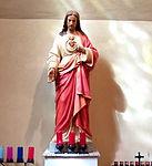 Holy Family Catholic Church (Oldenburg, Indiana) - interior, Sacred Heart of Jesus statue.jpg