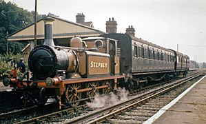 Horsted Keynes Bluebell Railway train in 1964 geograph-2687674-by-Ben-Brooksbank.jpg