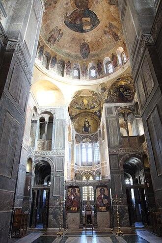 Macedonian Renaissance - Interior of Hosios Loukas