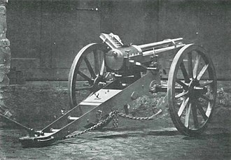 Hotchkiss gun - The Hotchkiss Revolving Cannon picture published 1874