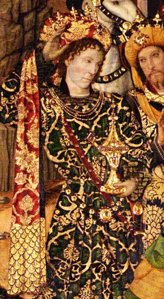 Peter, Constable of Portugal - Portrait in the Chapel of Santa Àgata by Jaume Huguet; 1464-1465.