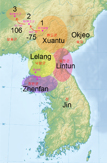 Four Commanderies of Han Chinese commanderies set up to control the populace in the former Gojoseon area