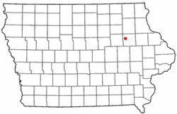 Location of Littleton, Iowa