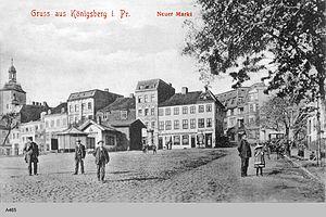 Löbenicht - View of the Neuer Markt and Löbenicht Church