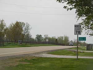 Illinois Route 78 - IL 78 north of Laura in Peoria County