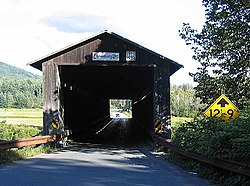 Mount Orne Covered Bridge between Lunenburg and South Lancaster, NH
